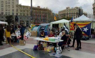 Place de Catalogne, le 26 mars 2018.