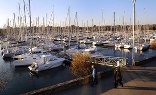 Le port de plaisance de Port-la-forêt (Finistère).
