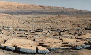Photo du site de Kimberley sur Mars, prise par le robot Curiosity.