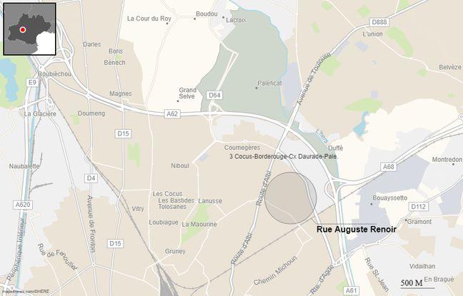 La rue Auguste-Renoir, à Toulouse;
