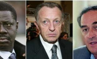 Pape Diouf, président de l'Om, Jean-Michel Aulas, président de l'OL, Jean-Louis Triaud, président des Girondins de Bordeaux et Sébastien Bazin, président du PSG.