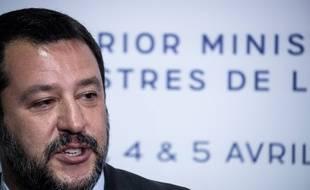 Matteo Salvini à Paris, place Beauvau, le 4 avril 2019.