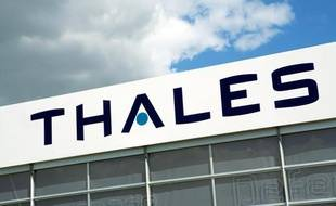 Le logo de Thales au salon du Bourget en juin 2009.