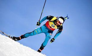 Martin Fourcade aux Mondiaux de biathlon le 11 février 2017.