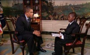 Damon Weaver, 11 ans, interview Barack Obama, en août 2009, à la Maison Blanche
