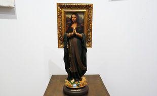 L'œuvre «Maria Lisa» de Soasig Chamaillard est un détournement de Vierge Marie.