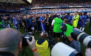 Chelsea a été sacré champion d'Angleterre, le 21 mai 2017 à Stamford Bridge.