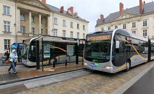 Le terminus nord de la ligne 4 à Nantes (avant travaux 2019)