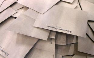 Enveloppes utilisées pour les élections.