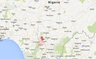 Une google map du Nigeria