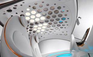 Le toit de voiture équipé de capteurs solaires et de diodes OLED développé par BASF et Philips.