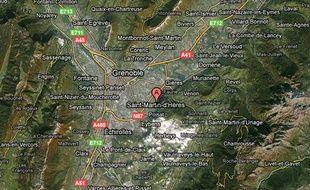 Carte de localisation de Saint-Martin-D'Hères, dans l'Isère