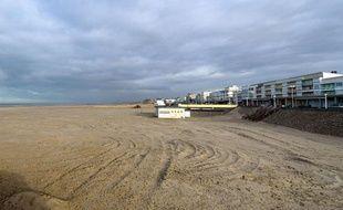 La plage de Berck-sur-mer où a été retrouvé le corps de la petite Adélaïde, le 26 novembre 2013.