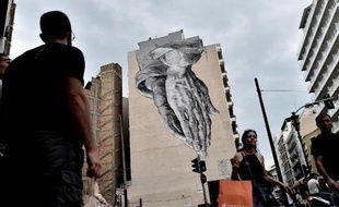 Des badauds, le 27 juin 2015 à Athènes