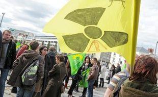 Un rassemblement contre l'énergie atomique a été organisé hier par les Verts.
