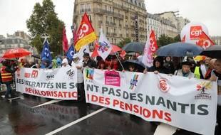 Les retraités se sont mobilisés à Paris, le 9 octobre 2019.