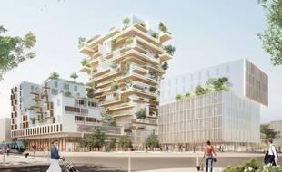Projet de tour en bois Hyperion dans le quartier Euratlantique à Bordeaux