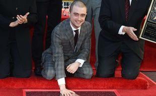 Daniel Radcliffe sur Hollywood Boulevard, le 12 novembre 2015.