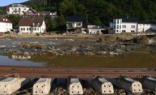 La ville de Dernau, en Allemagne, le 18 juillet 2021 après les inondations meurtrières.
