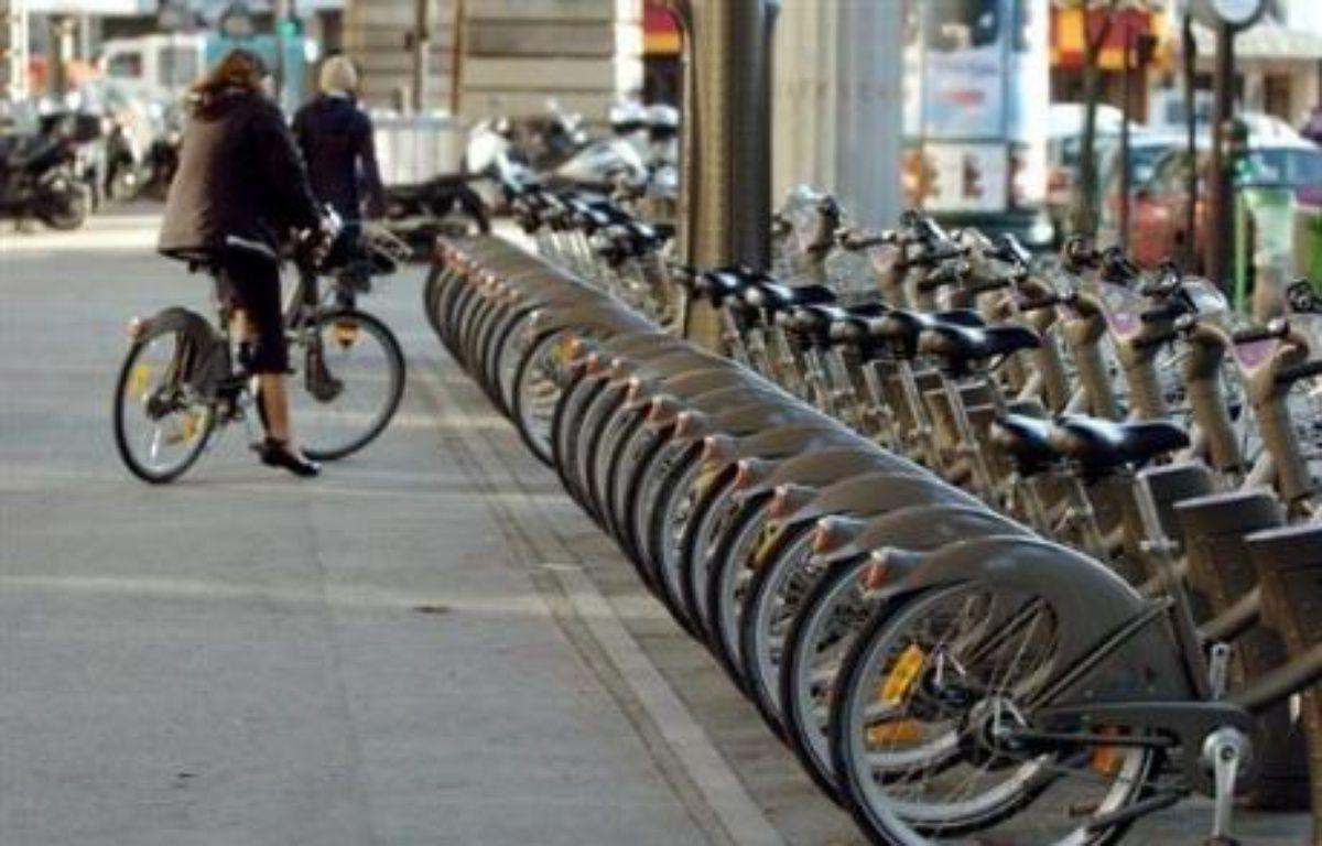 L'exposition Train of ideas passera par Paris début septembre.La ville a été choisie pour son réseau de vélos en libre service, Vélib'  – Jean Ayissi AFP/Archives