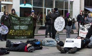 Manifestation à Cleveland le 20 décembre contre les violences racistes des policiers aux Etats-Unis.
