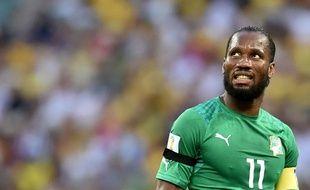 Didier Drogba lors de la rencontre entre la Côte d'Ivoire et la Grèce le 24 juin 2014.