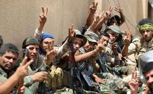 Les forces irakiennes le 28 mai 2016 à al-Sejar près de Fallouja
