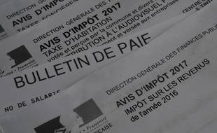 Photo d'illustration d'impôts, à Rennes, le 28 décembre 2017.