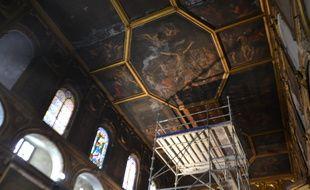 Le plafond de la chapelle des Pénitents blancs à Montpellier