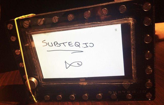 Le prototype de tablette de Subteq.io.