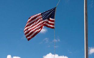 Le drapeau américain.
