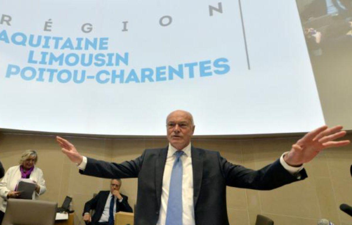 Alain Rousset (PS) à Bordeaux le 4 janvier 2015 – GEORGES GOBET AFP