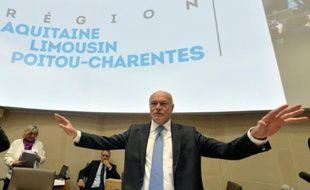 Alain Rousset (PS) à Bordeaux le 4 janvier 2015