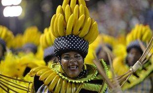 La banane à l'honneur durant la carnaval de Rio au Brésil, le 2 mars 2014