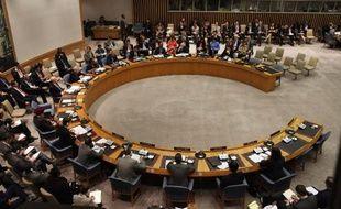Les membres du Conseil de sécurité de l'ONU réunis à New York le 27 septembre 2011