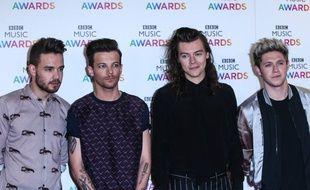 Les chanteurs Liam Payne, Louis Tomlinson, Harry Styles et Niall Horan des One Direction