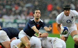 Le demi-de-mêlée français Morgan Parra face à l'Angleterre, le 20 mars 2010