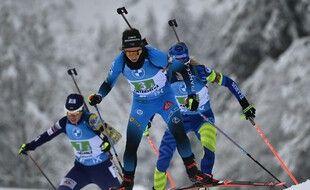 Anaïs Chevalier et les Bleues ont signé un nouveau podium en relais, le 24 janvier 2021.