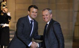 Emmanuel Macron et François de Rugy le 20 novembre 2017 à l'Elysée.