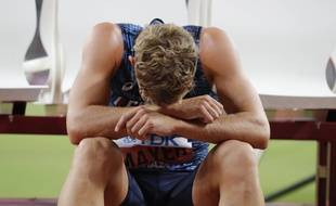 Kevin Mayer, lors des championnats du monde 2019 à Doha, au Qatar.