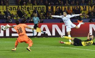 Cristiano Ronaldo face au Borussia Dortmund