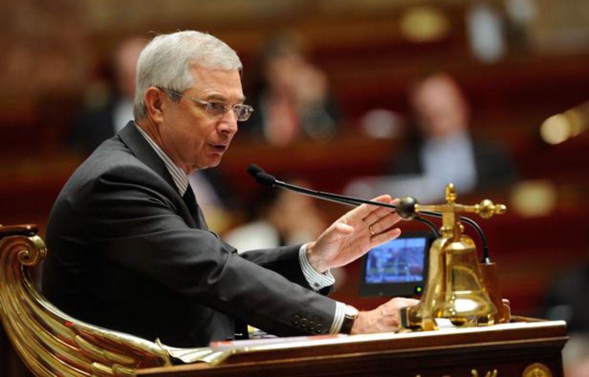 Le président de l'Assemblée nationale Claude Bartolone, le 2 février 2013 dans l'hémicycle, lors des débats sur le projet de loi sur le mariage pour tous. – WITT/SIPA