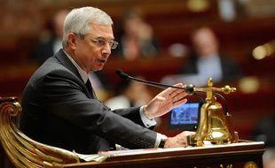 Le président de l'Assemblée nationale Claude Bartolone, le 2 février 2013 dans l'hémicycle, lors des débats sur le projet de loi sur le mariage pour tous.