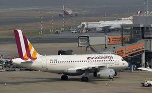 Illustration: un appareil Germanwings à l'aéroport de Dusseldorf.