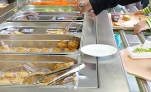 Lyon, le 16 octobre 2015, reportage à l'école Camus de Lyon, où les enfants sont très impliqués sur la pause déjeuner et la revalorisation des déchets alimentaires.