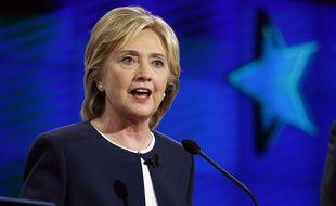 Hillary Clinton lors du premier débat entre les candidats démocrates.