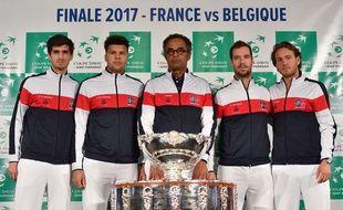 Hezrbert, Tsonga, Noah, Gasquett et Pouille. Vooici l'équipe de France qui défiera la Belgique en finale
