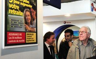 Au salon Actionaria consacré à l'investissement en bourse à Paris, en novembre 2011.