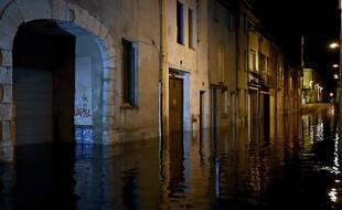 Des pluies torrentielles ont provoqué des inondations majeures dans le centre d'Agen, le 8 septembre 2021.