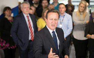 Le Premier britannique David Cameron le 15 juin  2016 à Cardiff